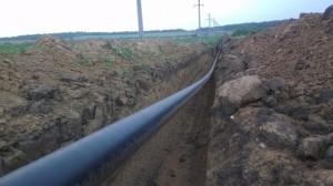 Рытье траншеи под газопровод